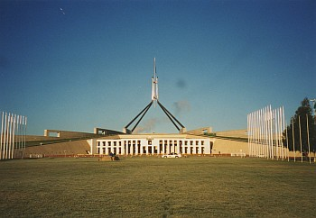 Parlament in Canberra.