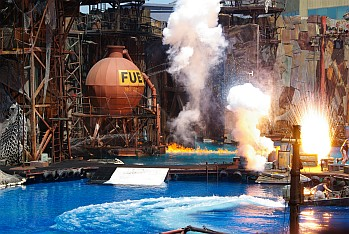 Waterworld-Show in den Universal Studios.