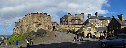Innenhof von Edinburgh Castle.